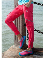 Wholesale Outdoor leisure mountaineering pants for women Little feet pants High elastic water proof outdoor sports pants colors for women