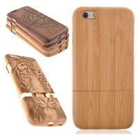 wooden case - New Genuine Real Natural Wood Wooden Bamboo Hard Back Case Cover For iPhone S For Apple s Mobile Cell Phone Case Protector XA001