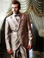 dress suit for men - The groom lapel double breasted groomsman wedding dress incision men suit for men s suit for the wedding
