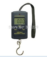 Cheap Wholesale-Portable LCD 40Kg 10g Digital Fishing Hanging Luggage Weight Weighing Hook Pocket Scale Free Shipping