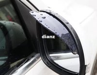 Wholesale New Arrive Universal Flexible PVC Car Rearview Mirror Rain Shade Rainproof Blades car back mirror eyebrow rain cover waterproof