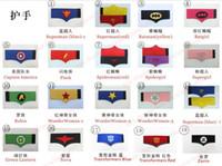 Wholesale 19 styles kids superhero wristband superman batman Transformers avengers cosplay armguard arm Wrist Support cartoon Hand guarantee A041