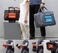 Wholesale 4 Colors Foldable Nylon Suitcase Hand Luggage Cabin Small Wheeled Travel Folding Flight Bag Large Capacity Case Travel Insert Handbag ak056