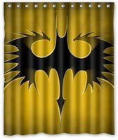 batman shower curtains - Batman Logo printed Shower Curtains size x72inch or x72inch waterproof polyester hot sale Curtains