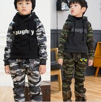 camo clothing - Retail One set Baby Boys Kids Warm Camouflage Camo Tops Pants Outwear Winter Clothing