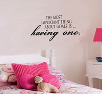 art important - The most important thing about goals is having one home decorative stickers wall art decals living room decoration wallpaper