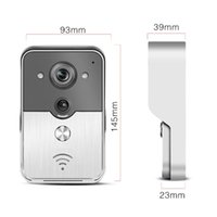 Wholesale Hot Remote WiFi Wireless Bell Door Doorbell Peehole Camera PIR IR Night Vision Alarm for Android IOS