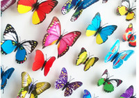 Wholesale lovely D Fridge magnets Refrigerator magnets The butterfly stickers