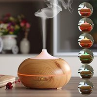 Wholesale Humidifier mL Newest in1 LED Night Light USB Essential Oil Ultrasonic Air Humidifier electric Aroma Diffuser