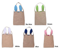 gift basket supplies - 5 Colors Bunny Ears Basket Easter gift bag classic rabbit ears canvas cloth bag put easter eggs for kids Easter Sunday Decoration