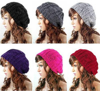 Wholesale 500pcs Lady Winter Warm Knitted Crochet Slouch Baggy Beret Beanie Hat Cap Z750