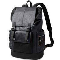 bags urban - Men women day urban backpack pu leather vintage shoulder lugage bag man mochila hombre mochila male luxury