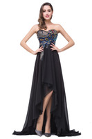 Cheap Designer 2016 New Cheap Prom Dresses Peacock Lace Beads Hi Lo Length Chiffon Summer Formal Real Image Party Evening Pageant Gowns BZP0811