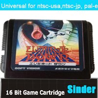 Wholesale Eliminate Down Game Cartridge Bit Big Black Game Card For Sega Mega Drive Genesis