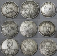 Wholesale Collectibles Chinese Old Handwork Silver Souvenir Coins