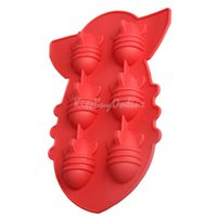 Wholesale Drink Party Ice Tray Cool Atomic Bomb Shape Ice Cube Freeze Maker Ice Mould K5BO