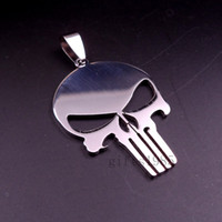 Wholesale MIP Punisher logo Stainless Steel Dog Tag pendant w inch ball chain