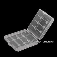Wholesale battery Box AA AAA battery case white