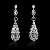 america earrings - Fashion Pretty Explosion models in Europe and America Fashion Shine Platinum Hollow Silver Earrings silver earrings
