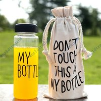 Wholesale Fashion My Bottle newest fashion Health material ml Funny Fruit juice water tour out door cup botle with bag
