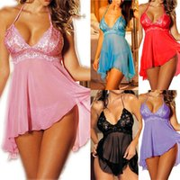 Wholesale Hot Women sexy Nightwear Lingerie Sleepwear Robes Ladies Plus size Intimate night Gown Exotic Apparel Babydolls Chemises XXXL Sexy Costumes
