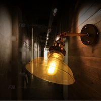 belly bars stores - Novelty E27 Wall Sconces Glass Belly Lampshade Industrial Vintage Country Wall Light Bar Cafe Store Room Decorative Wall Lamps order lt no t