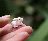 Resin animals crafts - rabbit bunny fairy garden gnome animals moss terrarium home desktop decor crafts bonsai doll house miniatures DIY c12