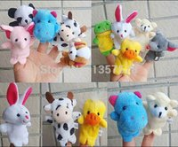 Cheap Free Shipping 10 pcs lot Baby Plush Toy Finger Puppets Tell Story Props(10 animal group)Animal Doll  Kids Toys Children Gift