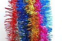 Wholesale 30pcs chrismas tree ribbon wedding festervil long garland stripe stage decoration color bar home decoration