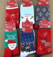 Wholesale Christmas Socks New Dhl Long Winter Best for Women Children Socks Hosiery Cotton Santa Claus Christmas Gifts Cheap B322