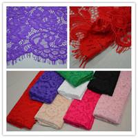 Wholesale 2015 Gorgeous Thread Lace Fabrics Eyelash Lace Fabric Warp Knitting Clothing Wedding Dress Fabric Flower Pattern cm cm piece