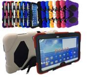 Para Samsung Galaxy Tab 10.1 P5200 3 Militar Extreme Heavy Duty impermeable a prueba de choques CASO DEFENSOR con el soporte de la cubierta del caso