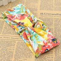Wholesale Head Wrap Hair Headwear Colorful Flower Elastic Turban Knot Girl Ladies Women Flower Bow Twisted Knotted Yoga