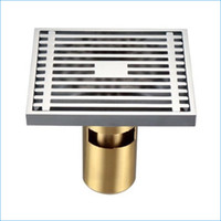 bathroom floor drainage - All copper floor drainer strainer brass floor drain bathroom water drainage waste discharge floor drain J14125