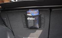 back seat storage bag - Strong Magic Tape Car Seat Back Storage Mesh Net Bag cm cm Luggage Holder Pocket Sticker Trunk Organizer Car Styling