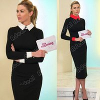 office dresses - Elegant Spring Women s Ladies Office Business Formal Tonic Pencil Slim Party Stretch Dresses SV001986