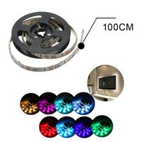 usb rgb - Waterproof cm feet Wall LEDs RGB USB Strip Light with Mini Controller Suit for Notebook Car Cigar Lighter LEG_647