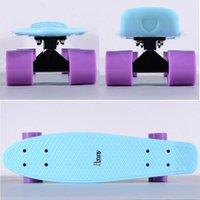 penny nickel boards - Penny Pastel Mint Cruiser Complete Skateboard with Black Alu Alloy Trucks and Purple Wheels penny nickel board
