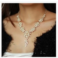 Wholesale brand jewelry Necklaces Pendants Strands strings chokers new fashion pearl luxury diamond wedding bride accessories