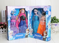 Wholesale New Frozen Dolls just Frozen Princess Elsa Anna style Doll figure Toy in box action fgure change clothes