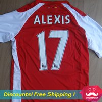 football wear - Arsenal jersey Arsenal fc football shirts OZIL ALEXIS ROSICKY RAMSEY Soccer Jerseys Top Quality Soccer Wear