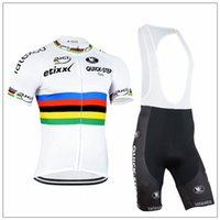 team wear - Pro team Quickstep white black cycling jersey and cycling shorts custom cycling wear