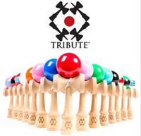 Wholesale 7 inch Kendama Ball Funny Japanese Traditional Wood Game Toys Summer style Activity Gifts cm big size Kendamas Balls