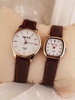 aa watch batteries - 2016 Korea Rate Mori classic retro minimalist leather vine fine lines with a square plate aa couple watch round