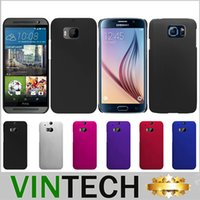 Wholesale Slim Thin Hybrid color rubber coating Hard Case Cover for Samsung Galaxy S6 Galaxy S6 Edge HTC One M9 M8 Sony Xperia Z4 Aqua Apple iphone