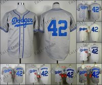 robinson - Los Angeles LA Dodgers Jackie Robinson Baseball Jersey Rugby Jerseys Embroidery logos Authentic Size M XXXL