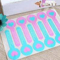 Wholesale Baking powder packaging blue love long sealing paste pushing stickers decoration