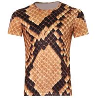 Precio de Snake skin-FG1509 <b>Snake skin</b> Camisetas impresas en 3D, Punk Tres D Camiseta de manga corta XS- 6XL / 21 estilo Camisetas