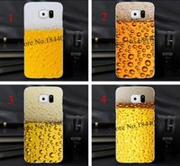 beer case cooler - 4pcs A Glass of Beer Cool Summer Hard Skin Transparent stealth Case Cover for Samsung Galaxy s3 s4 s5 s6 s6edge