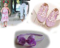 Robes big dance shoes - 5pcs hollow out single shoes pc quot big bowknot head hoop Rivet girls shoes princess grace shoes Dance Shoes yards years
